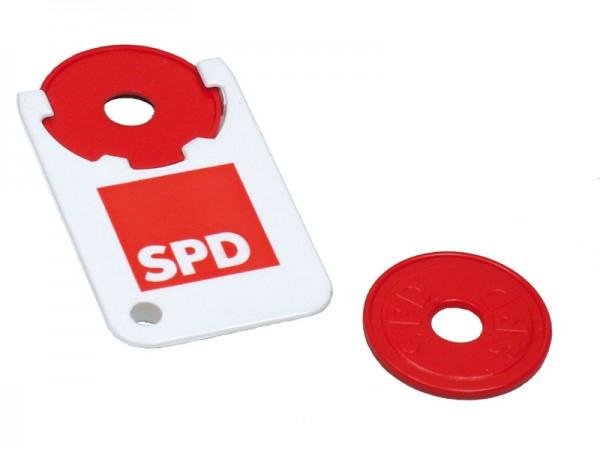 Einkaufswagenchip mit Halter - SPD