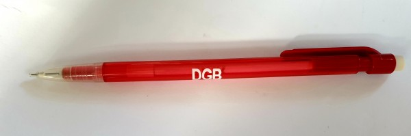 Druckbleistift rot transparent - DGB