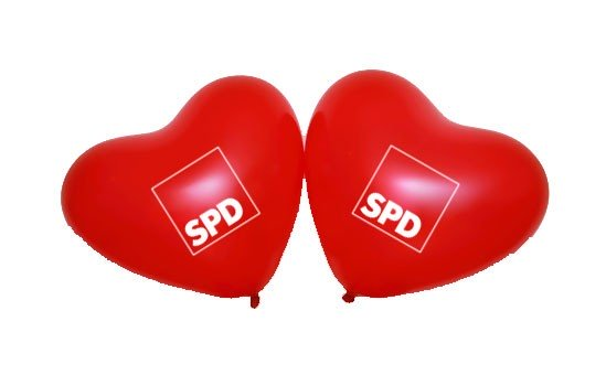 Luftballon Herz - SPD *