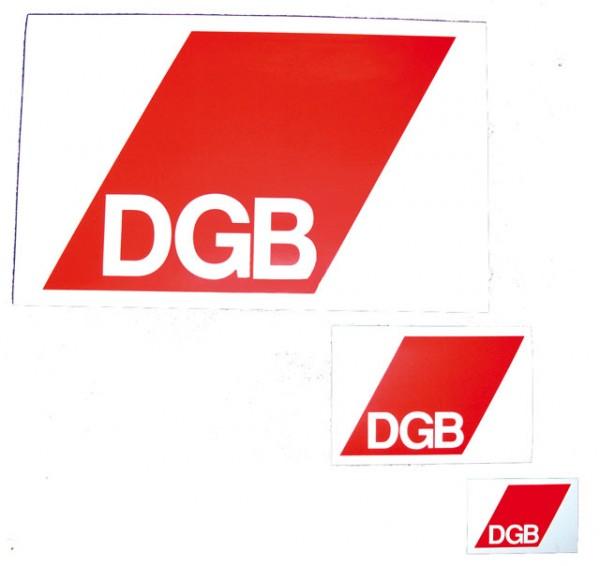 Aufkleber 9 x 6 cm - DGB