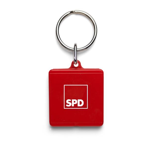 Einkaufswagenchip mit Halter eckig - SPD