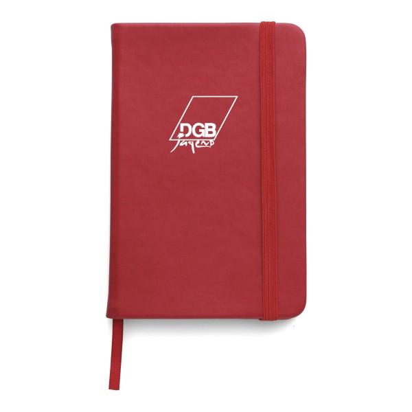 Notizbuch PU rot DIN A6 - DGB Jugend