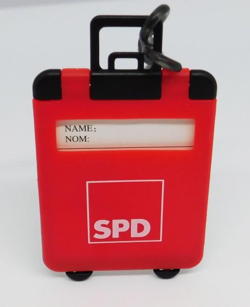 Kofferanhänger mit Flexband rot - SPD