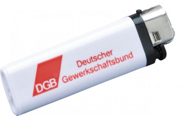 Feuerzeug Einweg weiß - DGB
