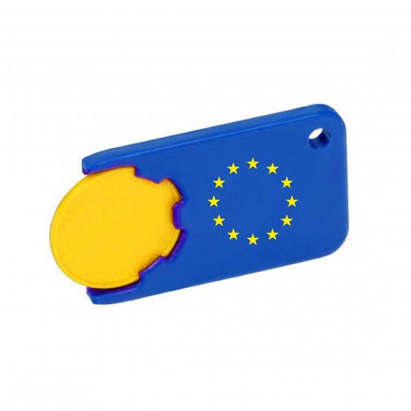 Einkaufswagenchip mit Halter Europa