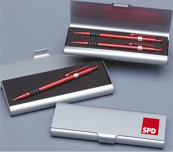 Schreibetui Metall 2 Stifte - SPD