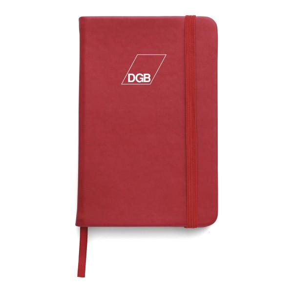 Notizbuch PU rot DIN A5 - DGB