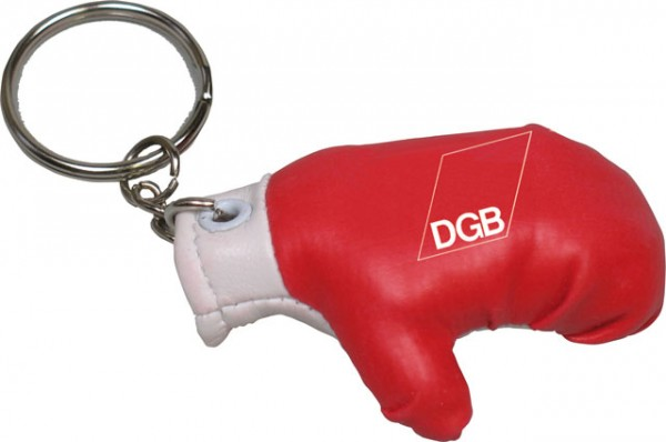Schlüsselanhänger Boxhandschuh - DGB Jugend