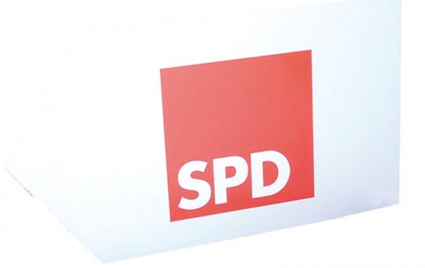 Hinweisschild - SPD *